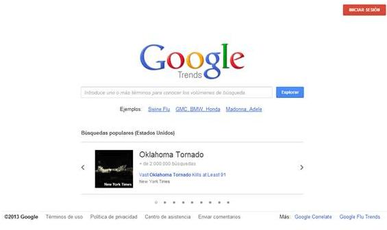 Google tiene una herramienta para comparar tendencias de búsqueda en el tiempo de palabras clave llamada Google Trends
